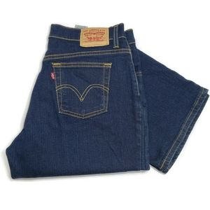 Levi's Relaxed Boot Cut 550 jeans, size 10P, dark